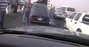 صور حادث الخط السريع