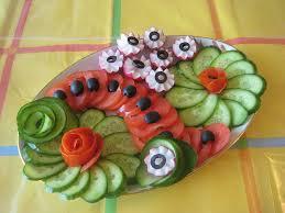 بالصور تزيين الخضار و الفواكه