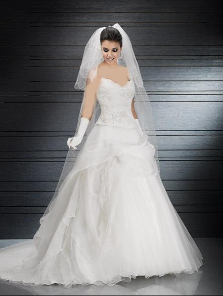 بالصور فستان زفاف امريكي