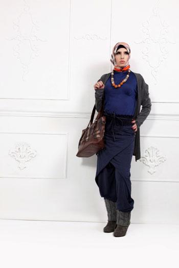 صورة ملابس المحجبات في الشتاء