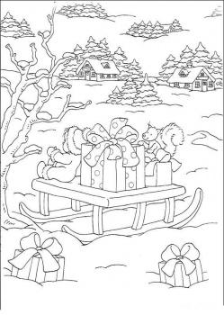 بالصور رسومات فصل الشتاء