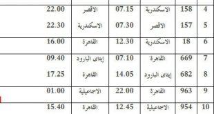 صورة مواعيد القطارات اسكندرية القاهرة
