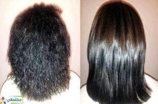 صورة علاج الشعر بالبروتين