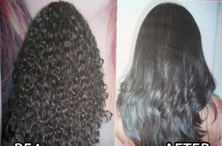 بالصور كيفية تسبيل الشعر المجعد