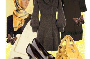 صورة ملابس شتوية للمحجبات 2017