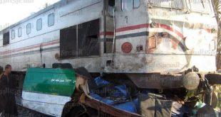 صور حادث قطار المنيا اليوم