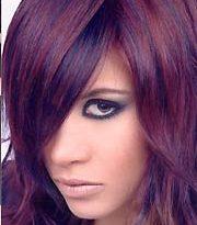 صورة صبغة الشعر اللون الباذنجاني