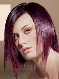 صور صبغة الشعر اللون الباذنجاني