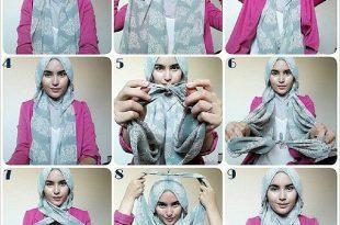 صورة طريقة ربط الحجاب