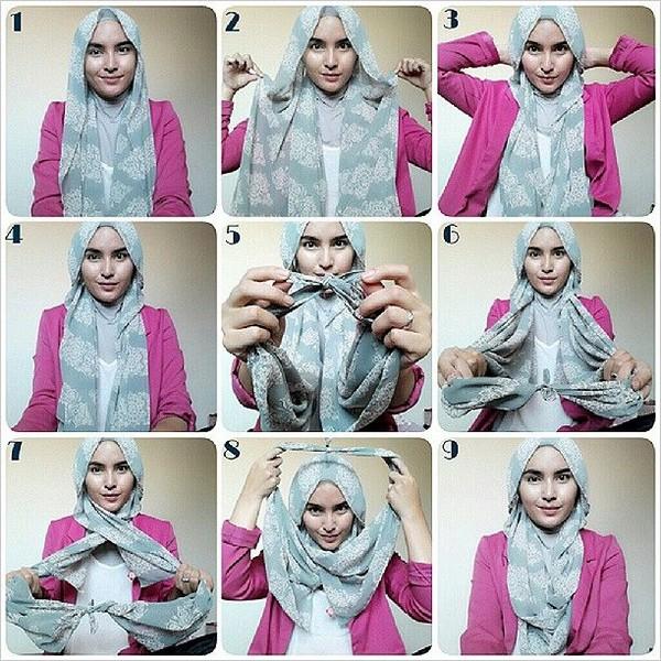 بالصور كيفية ربط الحجاب