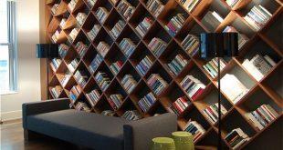 مكتبات منزلية خشبية
