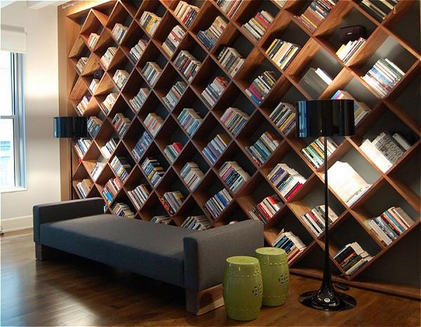 صورة مكتبات منزلية خشبية