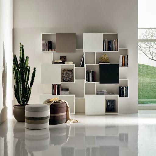 بالصور مكتبات منزليه خشبيه