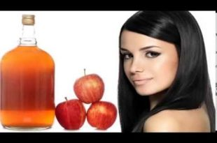 صورة خل التفاح للشعر المصبوغ