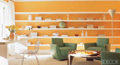 صور طلاء حوائط 2019 باللون البرتقالى اورنج