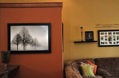 اللون البرتقالى اورنج في الدهانات للحوائط و الاسقف