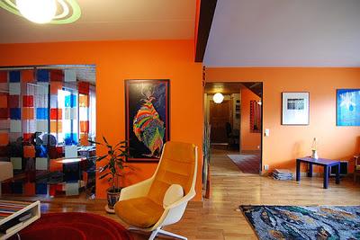 اللون ألبرتقالى أورنج فِى ألدهانات للحوائط و ألاسقف