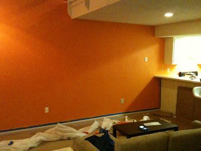 صور  بويات حوائط اللون البرتقالى اورنج)