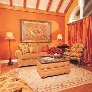 ديكورات حوائط برتقالى الاورنج