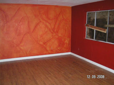 اشكال  اللون البرتقالى اورنج في طلاء الحوائط