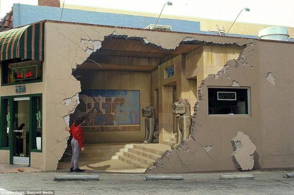 بالصور رسم ثلاثي الابعاد على الجدران