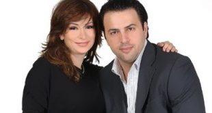 صورة تيم حسن وزوجته