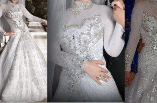 صورة فساتين زفاف 2017 للمحجبات