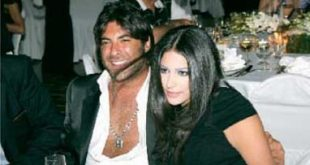 صورة وائل كفوري وزوجته انجلينا بشارة