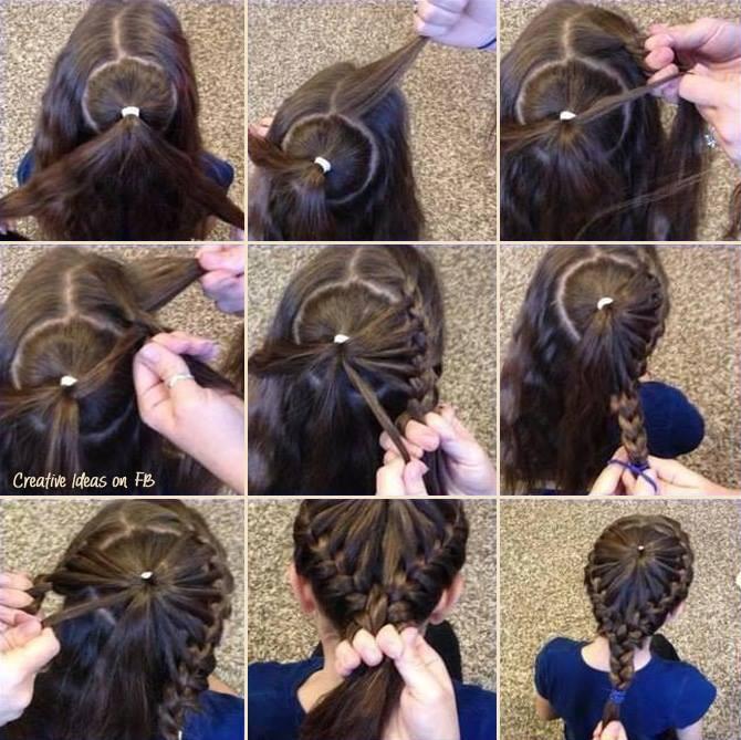 صورة تسريحات شعر اطفال سهلة