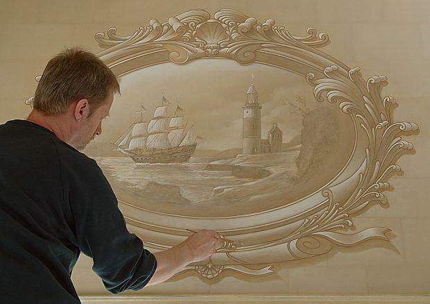 صورة الجبس على الحائط