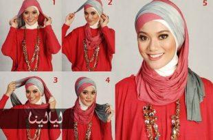 صورة اجمل طرق لبس الشال