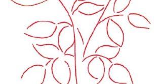 رسم باقة ورد