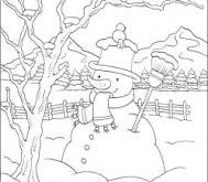 صورة رسومات فصل الشتاء