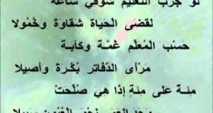صورة شرح قصيدة المعلم للشاعر احمد شوقي