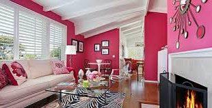 صورة دهانات باللون الرمادي والوردي