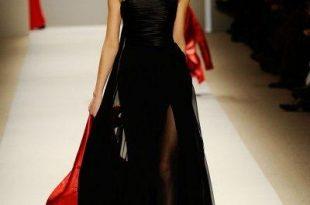 صورة فستان زفاف اسود