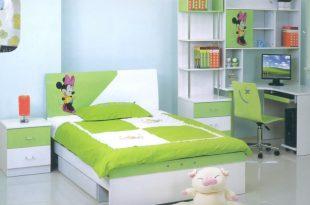 صورة غرف نوم اطفال باللون الاخضر
