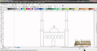 صورة كيفية رسم مسجد