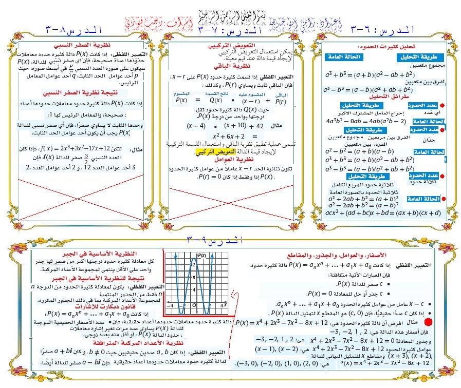 تحميل كتاب الرياضيات ثالث ثانوي الفصل الثاني