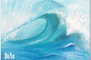 صورة رسم امواج البحر