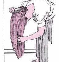 صورة مشط الشعر بالمقلوب