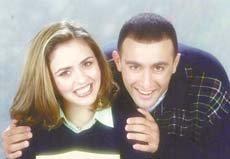 صورة الفنان احمد السقا وزوجته