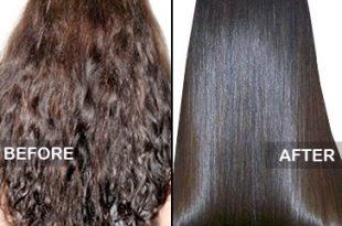 صور طريقة فرد الشعر بالكريم