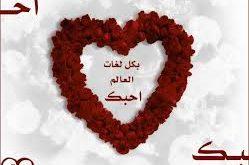 صورة كلمة بحبك بكل اللغات