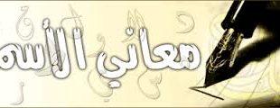 صورة تفسير الاسماء العربية
