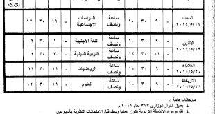 صورة جدول امتحانات بورسعيد