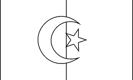 صورة علم الجزائر للتلوين
