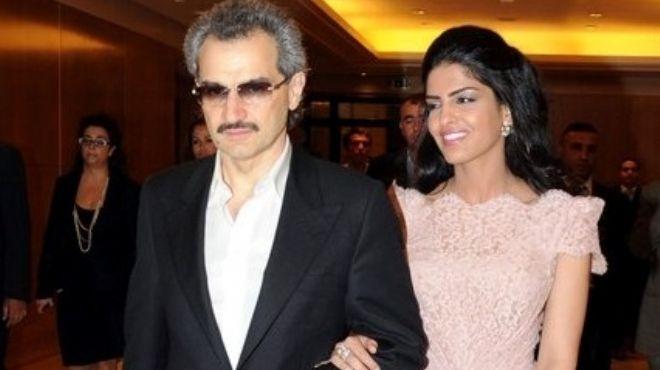 صورة الوليد بن طلال وزوجته