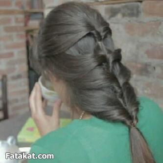 صورة كيف اصبغ شعري رمادي زيتي في البيت
