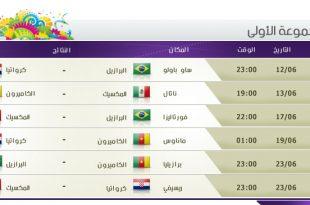 صورة جدول مباريات كاس العالم